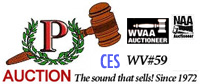 Logos: Plumlee Auction, WVAA, CES, WV59, NAA